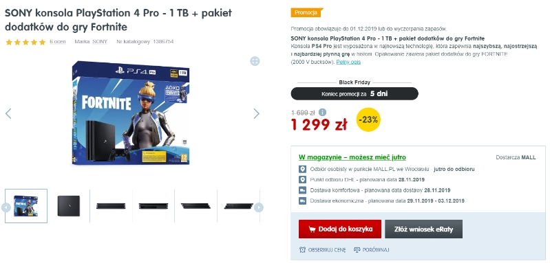 Oferta PS4 Pro 1TB black friday