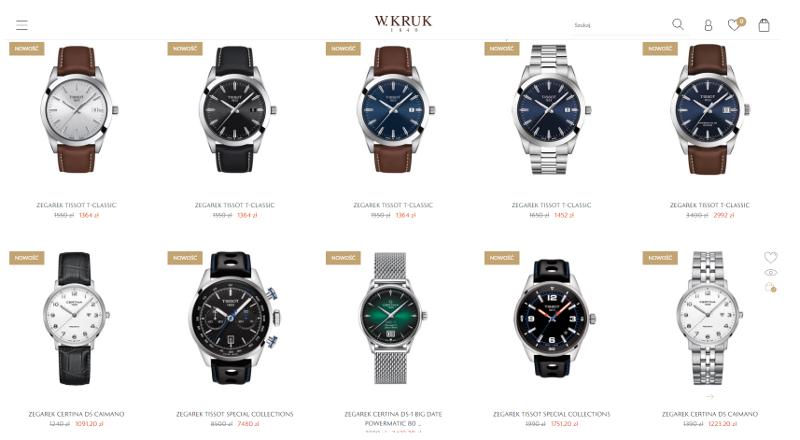 zegarki w promocji na wkruk